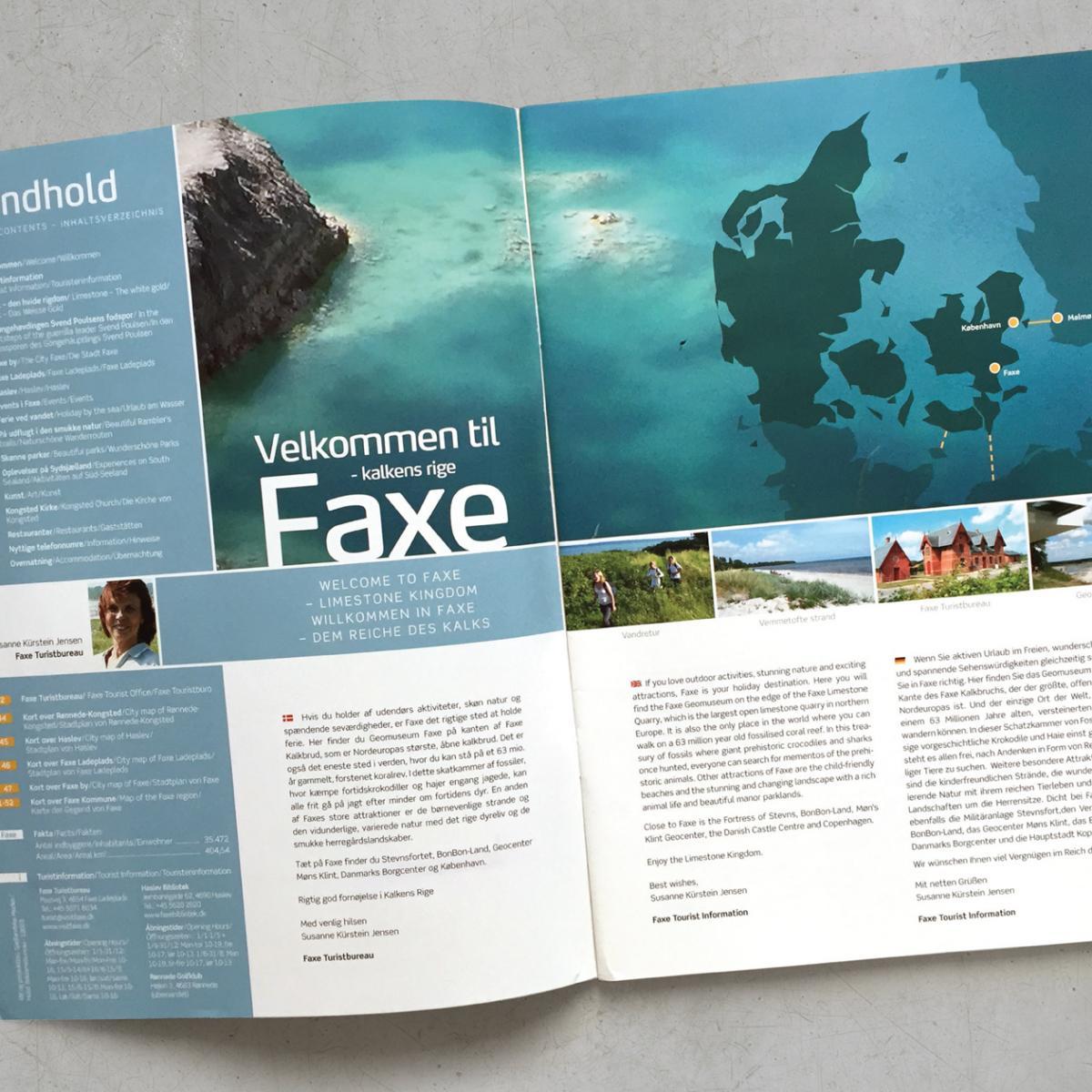 Faxe turistguide – redesign→