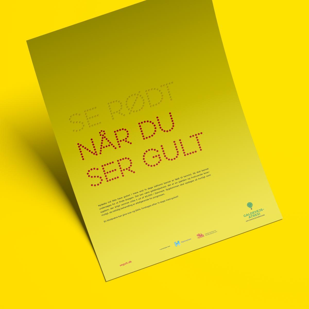 """""""SE RØDT NÅR DU SER GULT"""" oplysningskampagne→"""